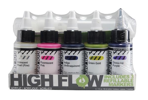 Golden High Flow Acrylics Farben + Marker-Set