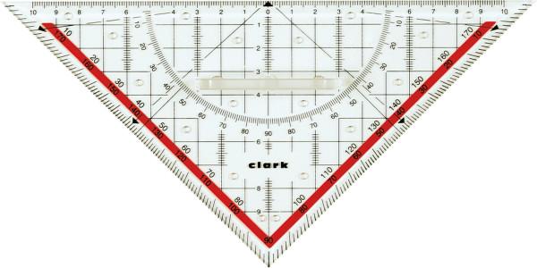 Clark Technisches Zeichendreieck/22 cm