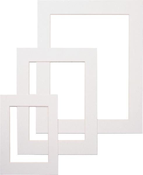 dorée Færdigskåret passepartout, hvid med et udsnit