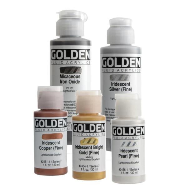 Golden Fluid AcrylicsIridescent Colors