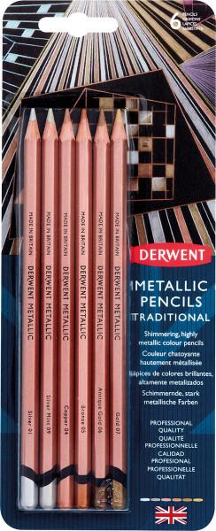 Derwent Metallic Pencil-Set   6 Farben im Bister