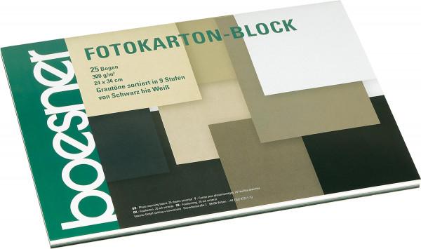 Block mit 25 Blatt, Grautöne   boesner Fotokarton